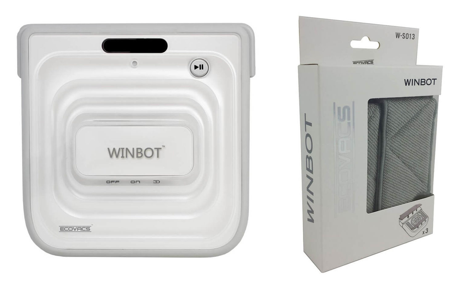 ecovacs winbot w730 window cleaning robot incl. 3- cleaning pads