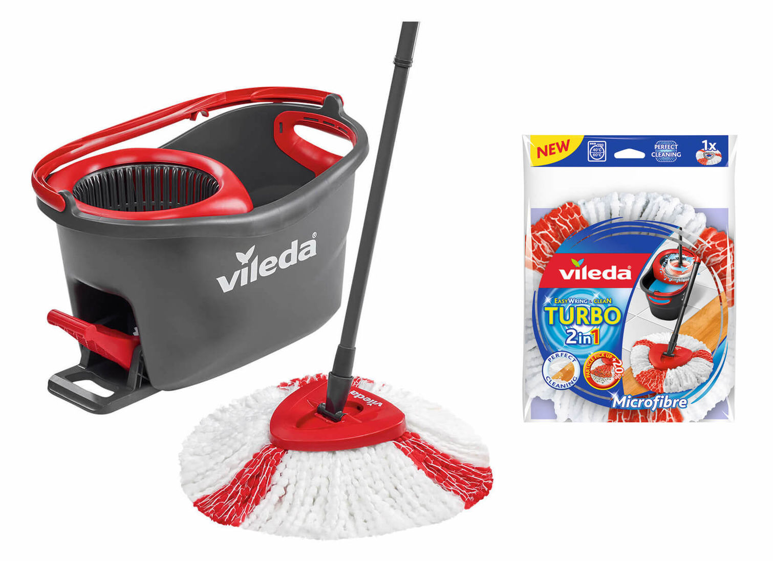 Vileda Easy Wring Clean Turbo Mop Repl Cover
