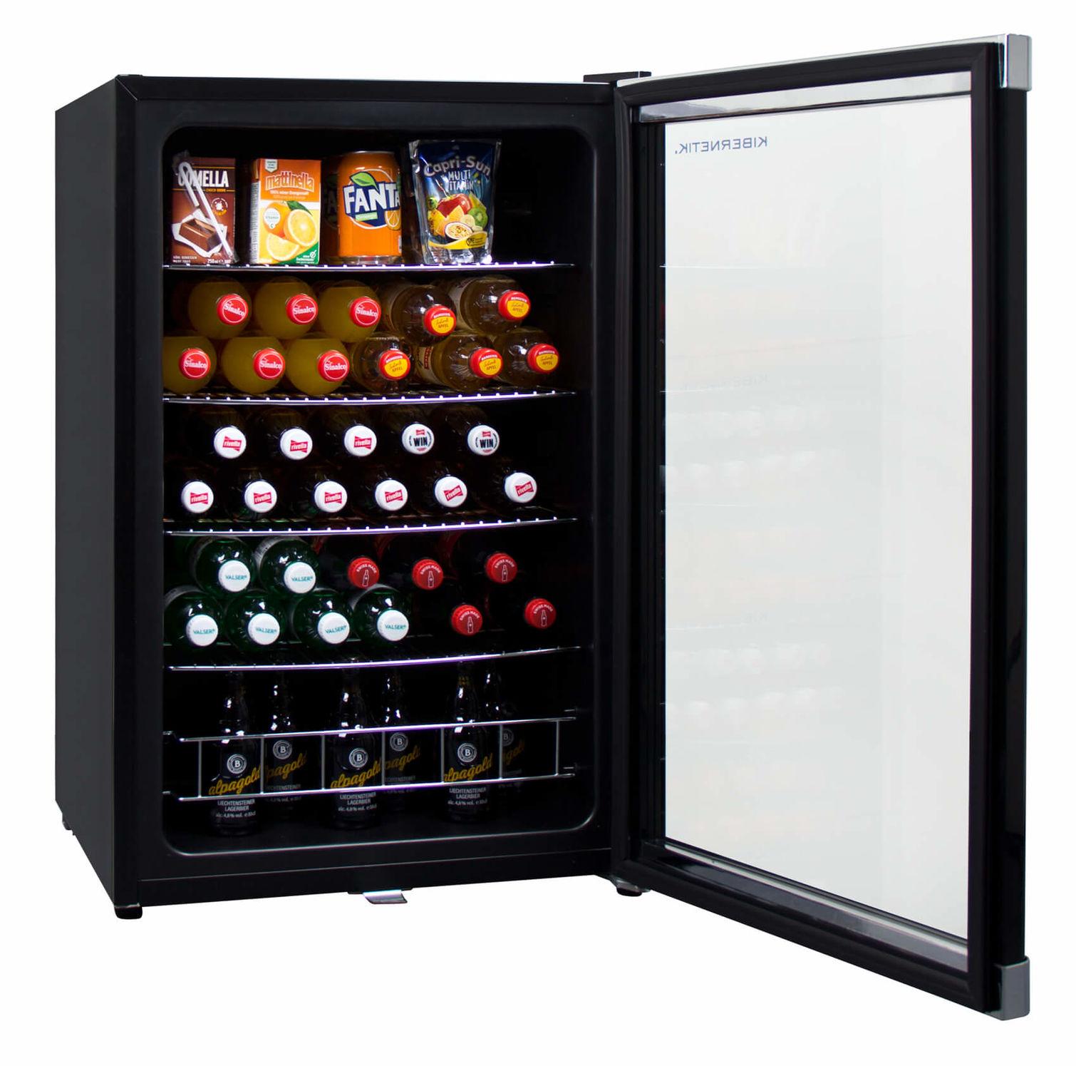 Kibernetik GK130L01 Getränkekühlschrank Schwarz links | nettoshop.ch