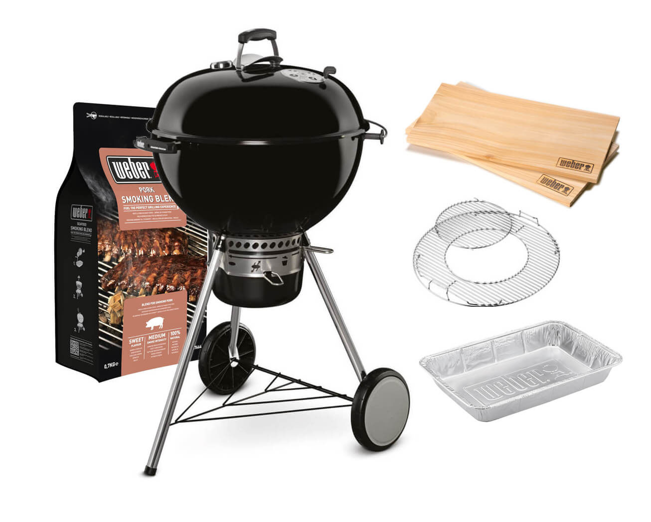 Weber Holzkohlegrill Master Touch Gbs 57 Cm : Weber master touch gbs special edition 57 cm black grill smoking set