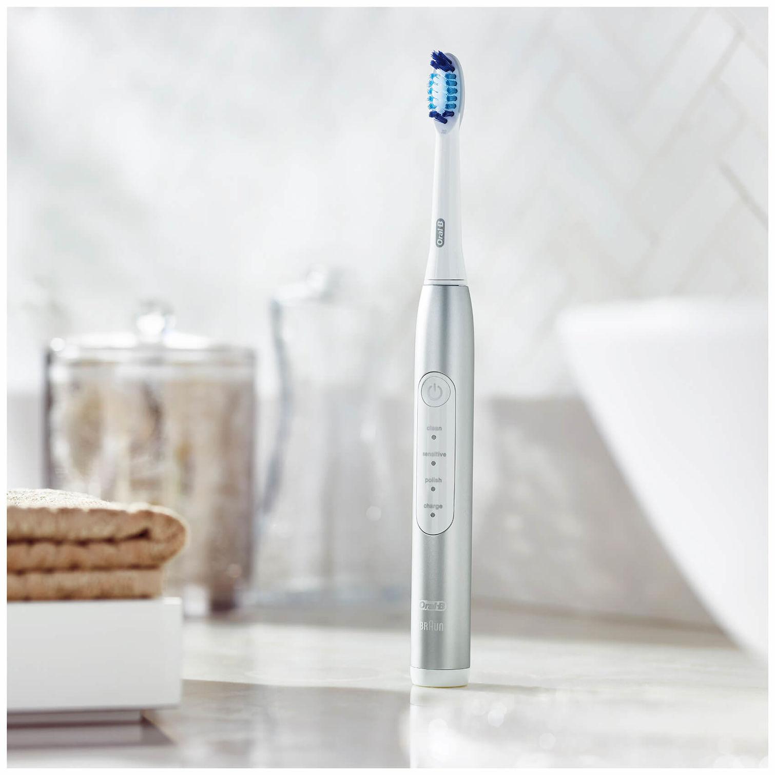 Buy Braun Oral-B Pulsonic Slim Luxe 4100 toothbrush platinum 498cdb965a776
