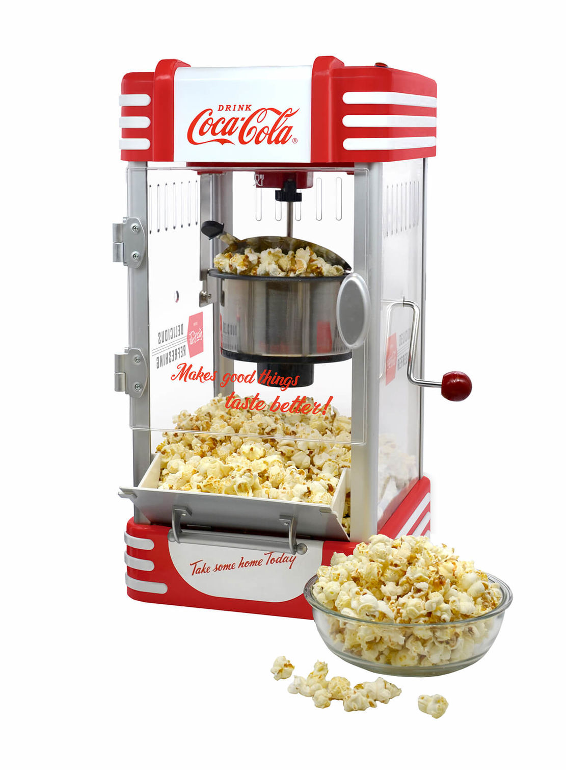coca cola popcorn machine
