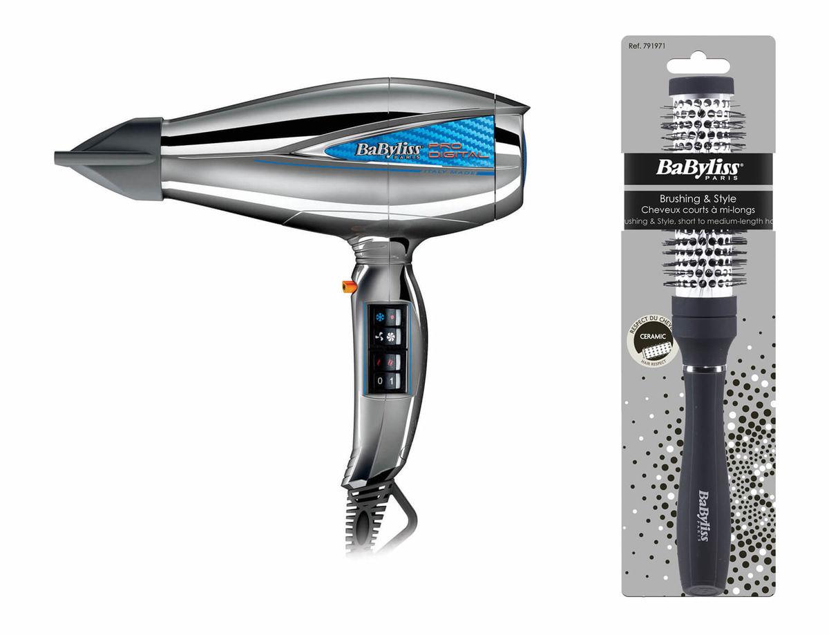 Image of Babyliss 6000CHE Pro Digital 2200W Haarföhn inkl. Style Brush