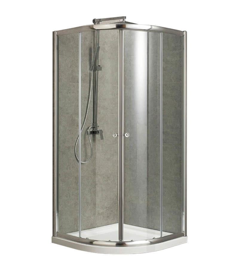 Image of AQUAPERL Classic 90cm echtglas klar rund Duschkabine chrom