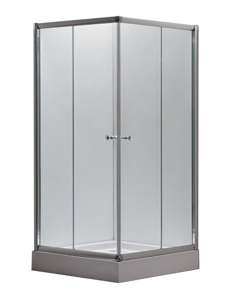Image of AQUAPERL Classic 80cm echtglas klar Duschkabine chrom