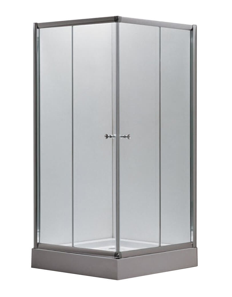 Image of AQUAPERL Classic 90cm echtglas klar Duschkabine chrom
