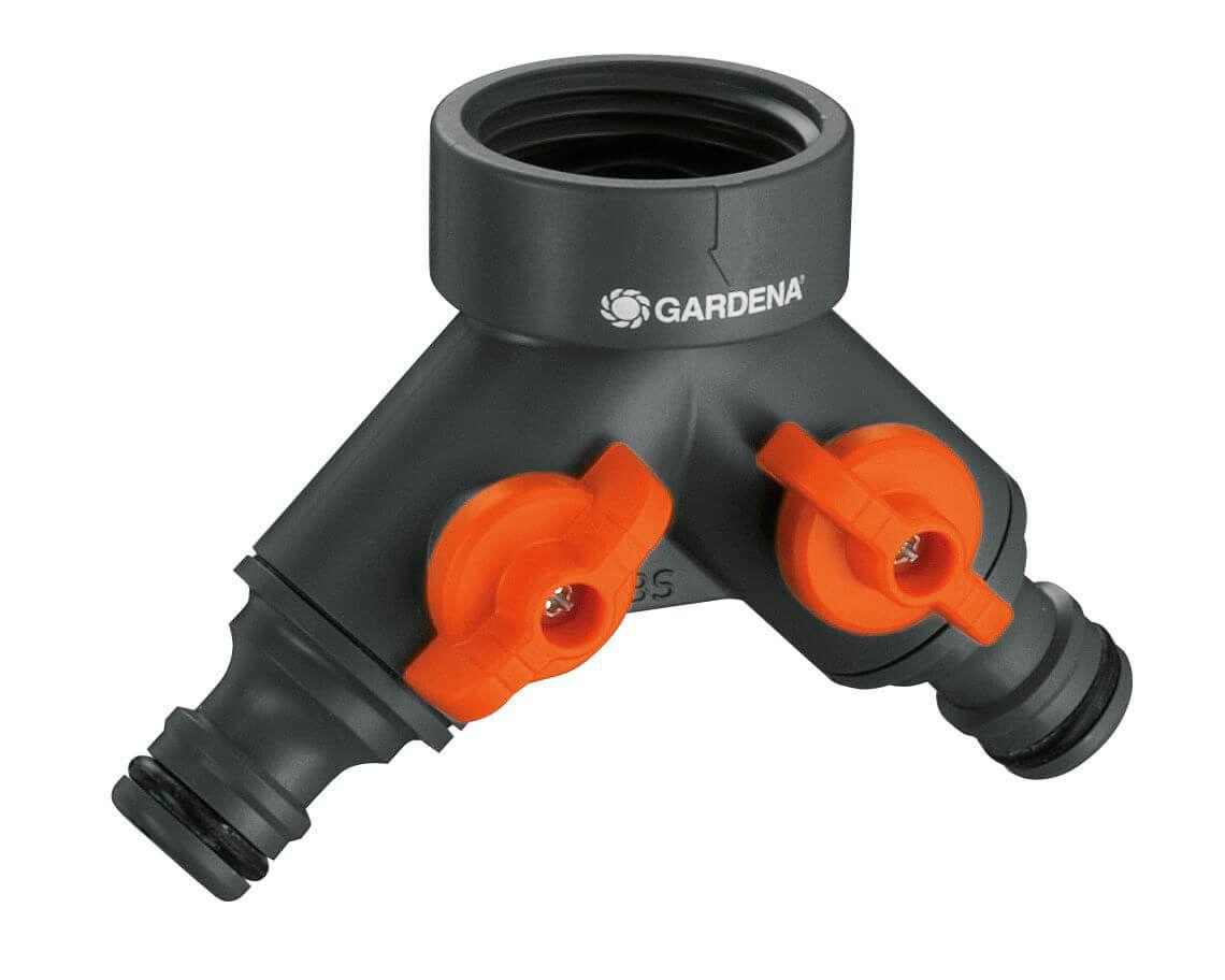 Image of Gardena 2-Wege-Ventil für Wasserhähne mit 26.5 mm (G3/4) Gewinde