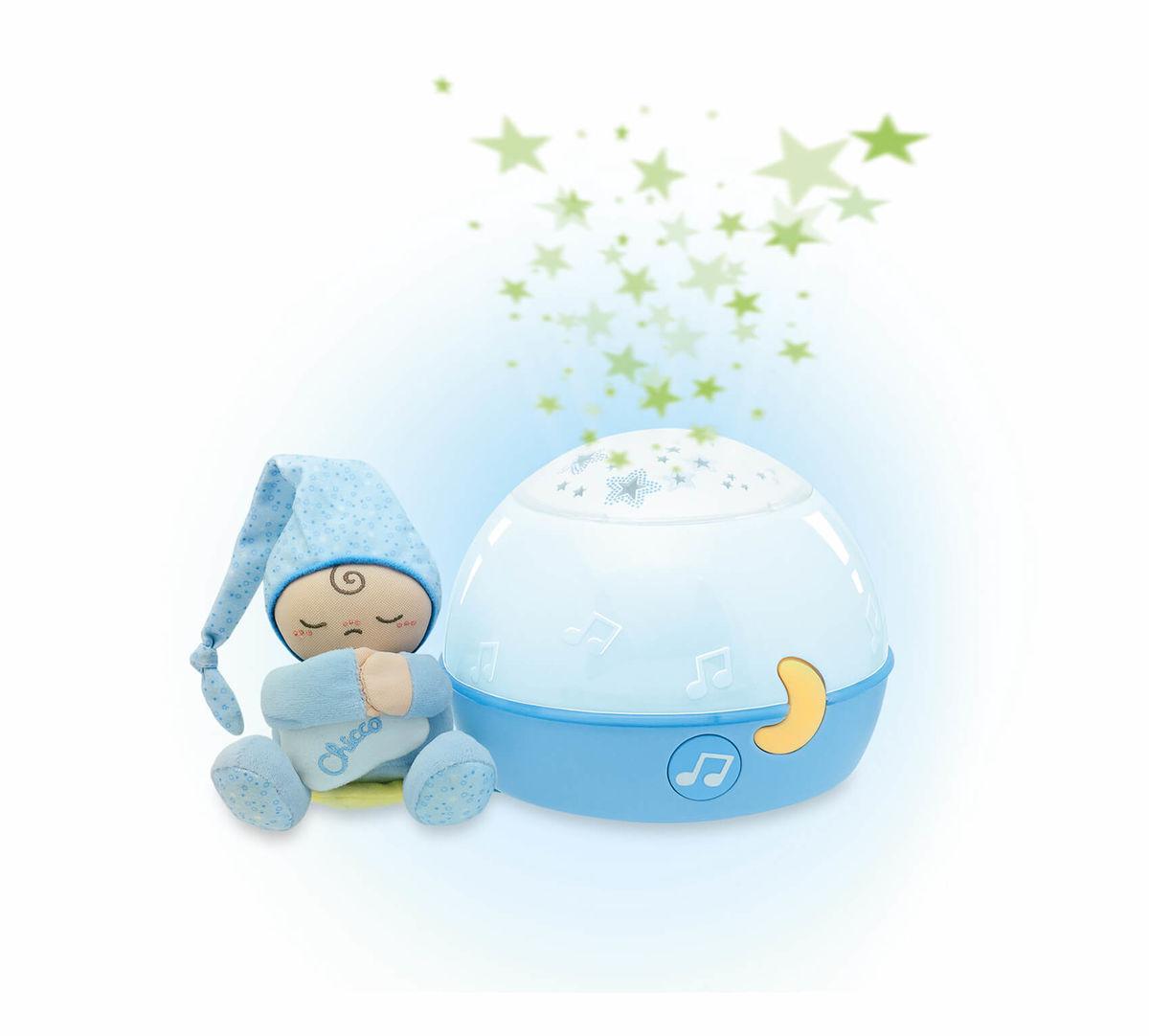 Image of Chicco First Dreams GoodNight Stars Nachtlicht blau