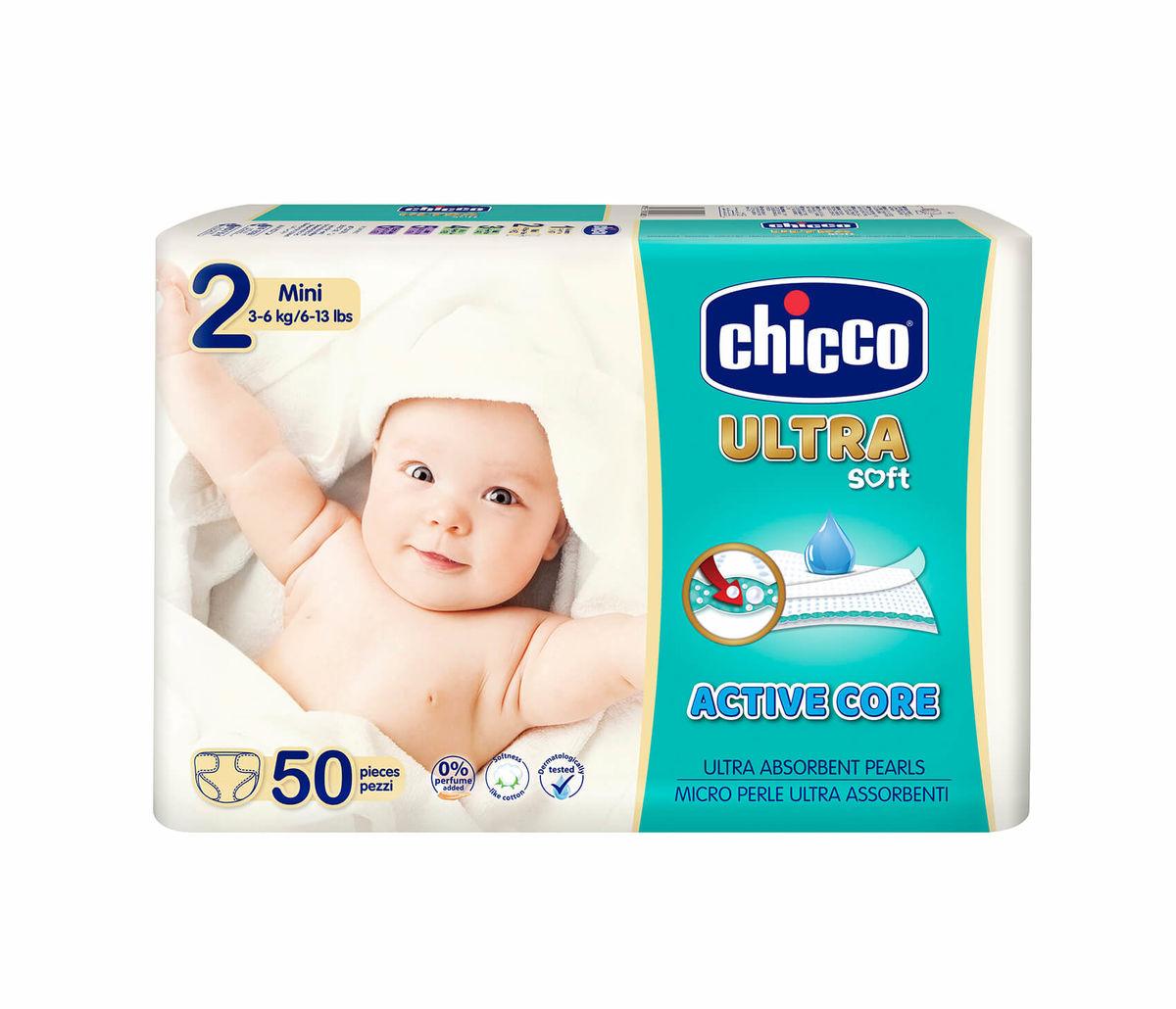 Chicco Ultra Maxi 2 Mini 3-6 kg Windeln 50 Stk