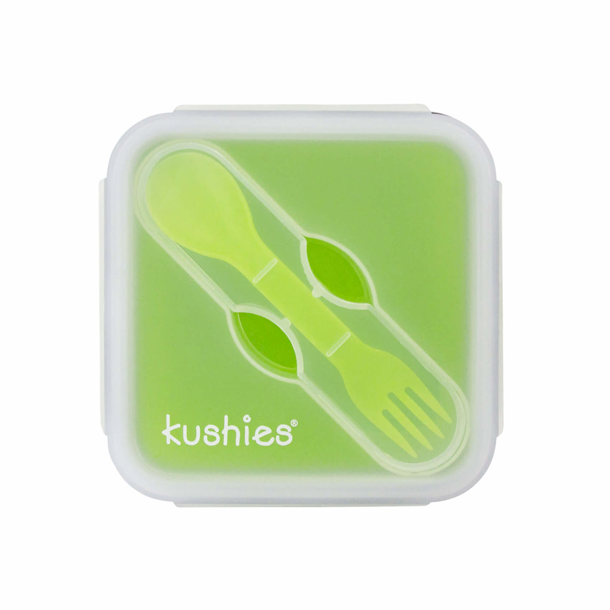 Kushies LunchBowls Essenbox aus Silikon grün