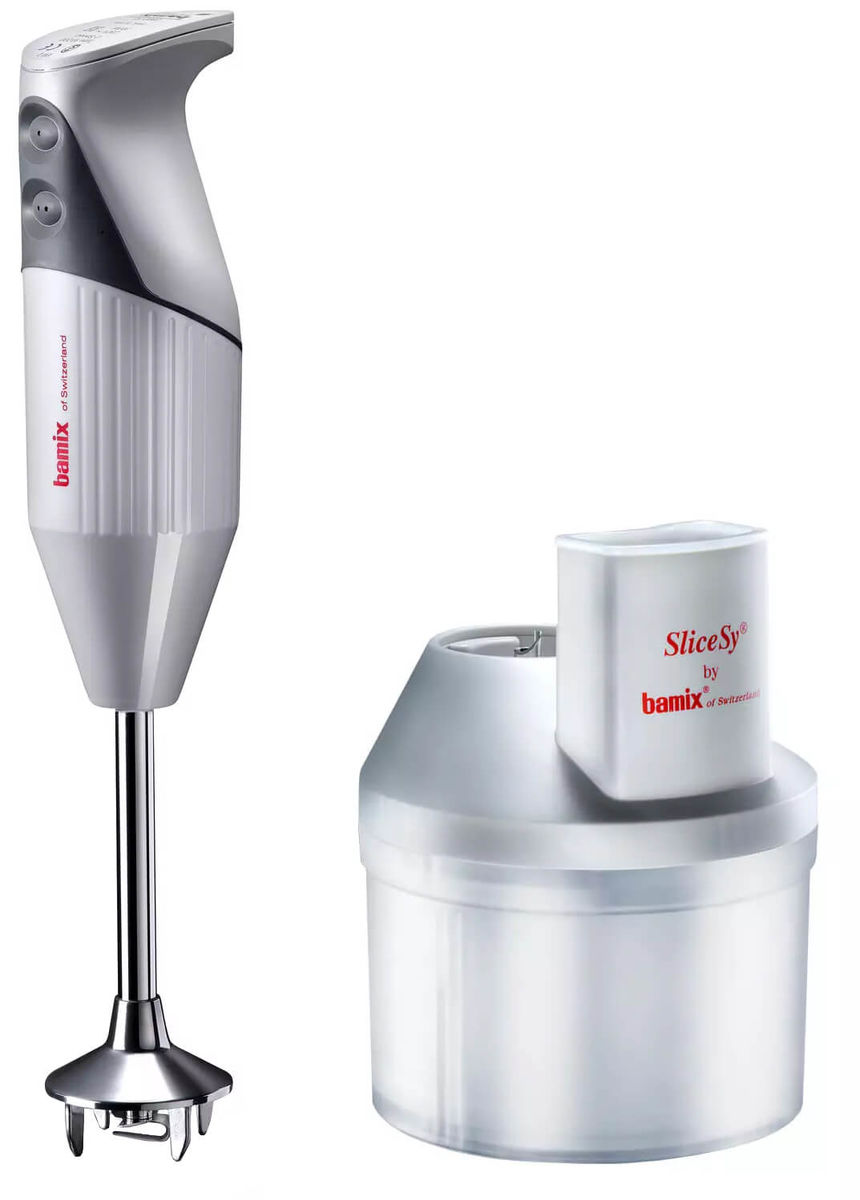 Image of Bamix 180 Deluxe Softgrip Mixer weiss inkl. Slicesy