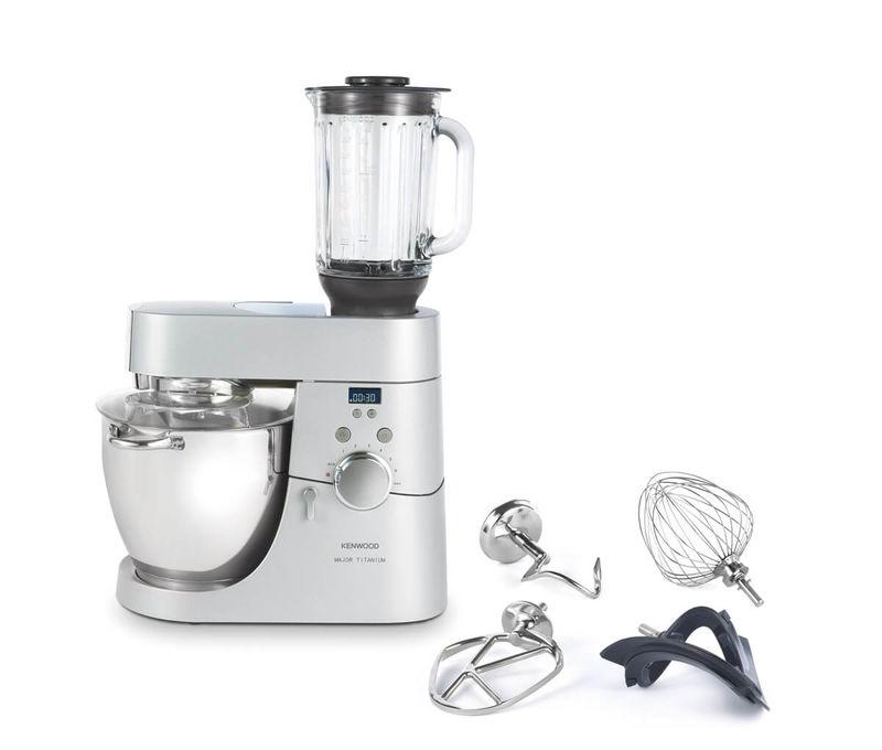 Kenwood Kmm075 Major Titanium Timer Kitchen Machine Incl Blender