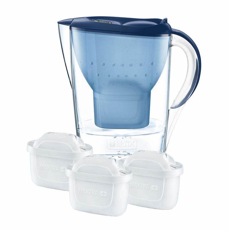 Brita Marella Inkl 3 Kartuschen Maxtra Wasserfilter Blau Kaufen