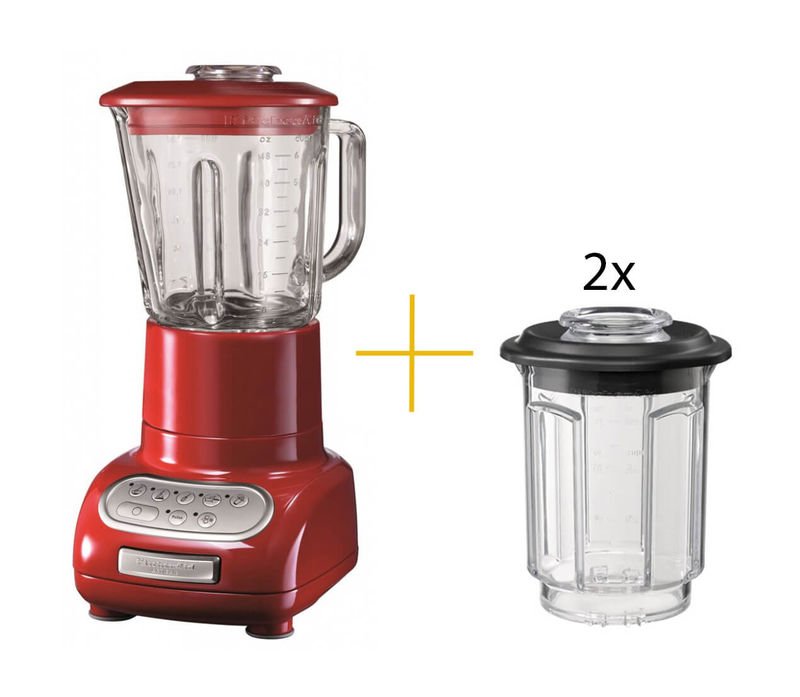 kitchenaid blender artisan mixer red incl 2x minimix