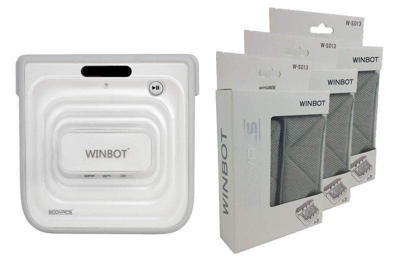 Robot Lavavetri Winbot.Ecovacs Winbot W730 Lavavetri Robot Incl 9 Puliziapad