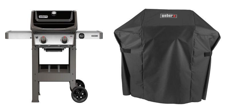 Højmoderne Weber Spirit II E-210 GBS Grill Black inkl. Abdeckhaube Premium kaufen AI-58